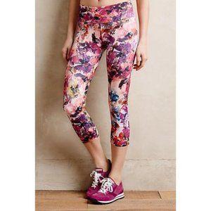 Onzie Watercolor floral yoga pants leggings s